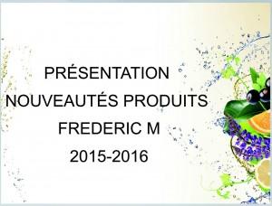 Nouveaux catalogues Frédéric M