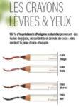 crayons lèvres et yeux naturels